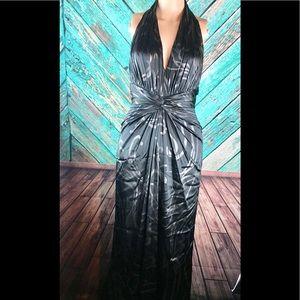 Tadashi Shoji Halter Evening Gown